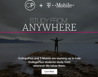 """T-Mobile & CollegePlus """"STUDY FROM ANYWHERE"""" Campaign"""