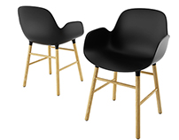 Free 3d model: Form Armchair by Normann Copenhagen