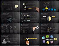 Best Blackboard Newspaper Infographics PowerPoint templ