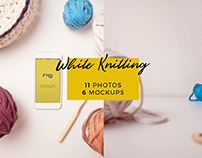White Knitting: 11 Photos + 6 Mockups