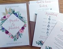 Papeterie für Boho-Hochzeit