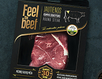 FEEL THE BEEF package design.