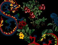 Estampa Oriental Floral