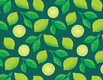 Citrus Fruits Pattern Design