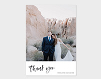 Photo Wedding Thank You Card Template
