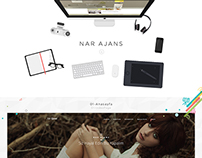 Nar Ajans Web Interface Design