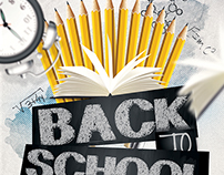 Back to School Party Flyer Template 2