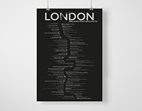 A typographic timeline