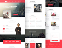 Creative Agency psd Template