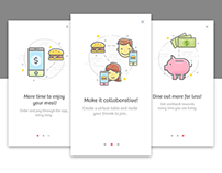 Onboarding icons illustration.
