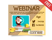 15 Free Webinar Banner in PSD