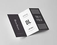 Tri-Fold DL Brochure Mock-up 3