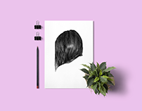 Hair - Biro pen illustration