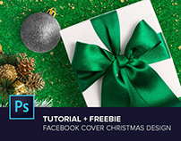 Photoshop Tutorial: Facebook Cover Christmas Design