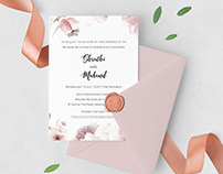 A modern wedding card