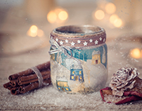 Photography - Decorative handcrafted candle jars
