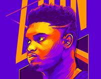 Zion Williamson - Illustration