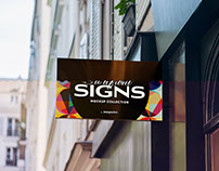 Shop Sign PSD Mockup