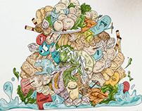 Diseño-Ilustración para decoración vehículo de alimento