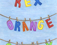 Rex Orange County promotional tour poster