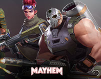 Playmayhem.com - web design interface