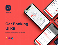 JUBER - Car Booking mobile UI Kit