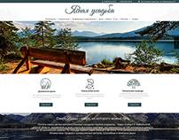 Design of website for health resort institution