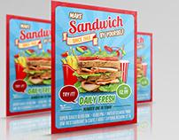 Sandwich Restaurant Flyer Template