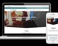 Responsive Website - Grupo Travessia - Financial Market