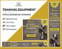 Gym Training Equipment Banner- HTML5 Ad Templates