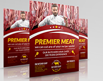 Butcher Shop Flyer Template