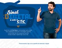 Hotsite C&C - Campanha Sinal Digital 2017