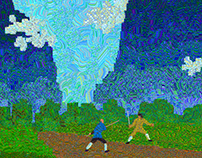 Pixel paintings