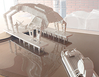 Scale model of the Pier and Catamaran