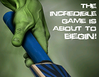 Incredible Game Poster-Hulk
