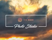 The Maze PhotoStudio Landing Page Concept
