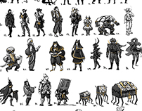 Character Silhouettes: Treasure Hunter
