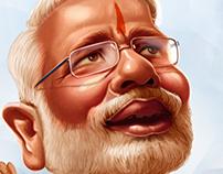 narendhira_modi caricature