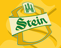 Stein Beer label design