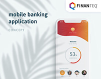 Mobile banking application - UI/UX concept