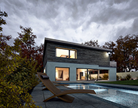 Pool, House and Grounds - Architectural Visualisation