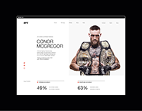 UFС — redesign website