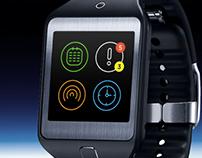 Astronaut Smartwatch App UI Design