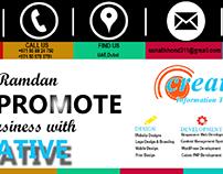 creative information technology digital marketing flyer