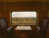 On the train.