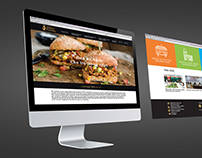 Food service website layout