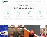 Sport WordPress Theme Home Page Gallery