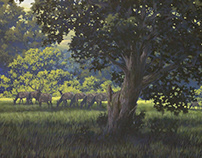 Sibley State Park, Historic Lanscape Reproduction Mural