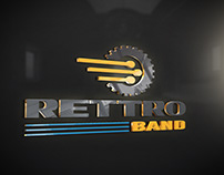 RETTRO BAND Company Logo Design. Submitted By Me.