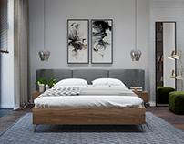 "Bedroom in ""Millennium Park"", Moscow"